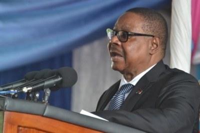 President Peter Mutharika (file photo).