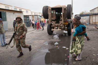 South African National Defence Force (SANDF) have been deployed to the Cape Flats to help the police quell gang violence.