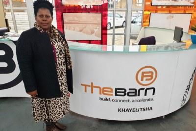 Fezeka Mavuso in the Bandwidth Barn, a hub for entrepreneurs in Khayelitsha, South Africa (file photo).
