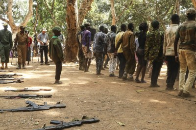 Former child soldiers are released in Yambio in South Sudan in February 2018.