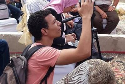 """Le blogueur Mohamed Ibrahim Radwan, dit Mohamed """"Oxygen""""."""