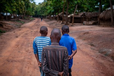 Trois anciens enfants soldats à Bambari, en République centrafricaine (photo d'archives).