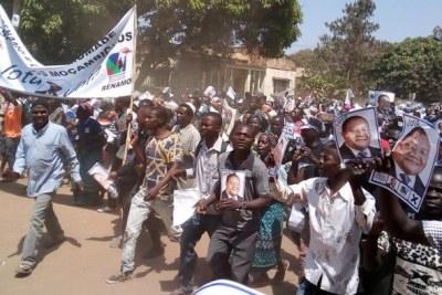 Un rassemblement politique au Mozambique.