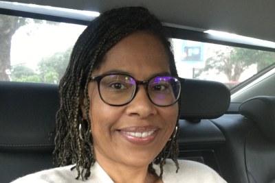 La Suisso-Camerounaise Nathalie Yamb, conseillère exécutive du Lider, le parti de l'ancien président de l'Assemblée nationale Mamadou Koulibaly.