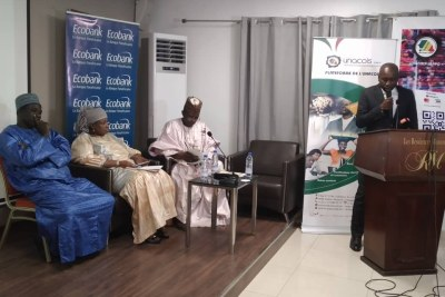Cérémonie signature de convention entre Ecobank Sénégal et l'UNACOIS Japoo, le 10 décembre 2019 à Dakar