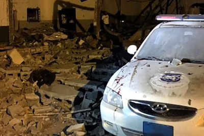 The aftermath of an airstrike on a detention centre in the suburbs of Tripoli. (file photo)