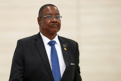 Malawi's President Peter Mutharika (file photo)