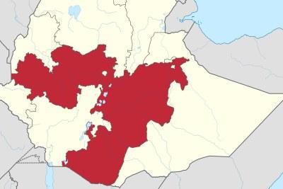 The Oromia region in Ethiopia.