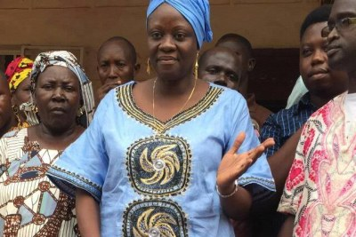 Sylvia Blyden, a former minister and to ex-President Ernest Bai Koroma, who was detained by police on May 1, 2020.