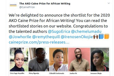 The shortlist for the 2020 AKO Caine Prize for African Writing.