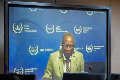 M. Abd–Al-Rahman comparaissant devant la CPI par liaison vidéo le 15 juin 2020