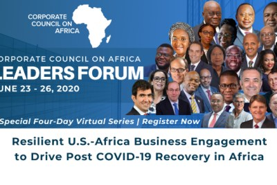 CCA Leaders Forum: Resilient U.S.-Africa Business Engagement to Drive Post COVID19 Recovery in Africa | June 23 – 26, 2020