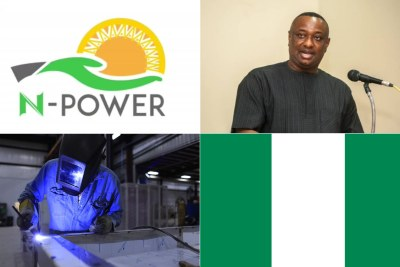 Nigeria Govt organisation N-Power, Minister of Labour Festus Keyamo, top right