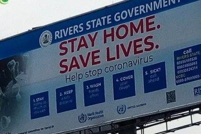 Billboards all over Rivers State convey COVID-19 messages.