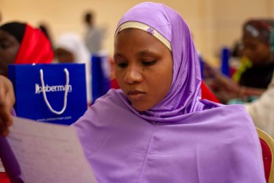 A participant at the Jobberman Soft Skills Training in Kano State, Nigeria