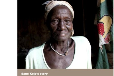 "Sano Kojo, 66, has been living in a camp since 1981 when she was accused of being a witch by allegedly pressing on her cousin's chest until he died. ""People don't care about alleged witches. Once you are here you are forgotten."""