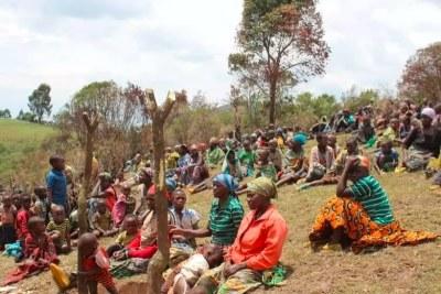 Des déplacées de Bijombo, sur les hauts plateaux du Sud-Kivu (RDC), le 18 novembre 2019