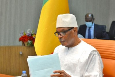Former Mali president Ibrahim Keita .