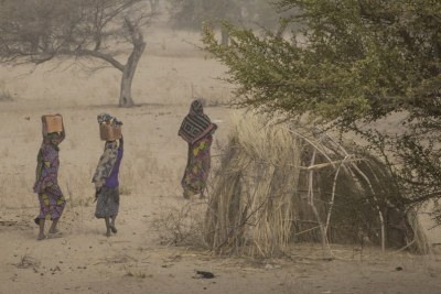 Women at a camp sheltering internally displaced persons in Mellia, Lac region, in western Chad (file photo).