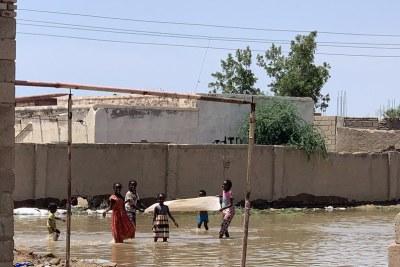 A flood-affected village in Khartoum State, Sudan.