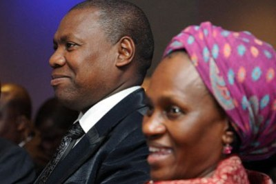 Dr. Zweli Mkhize, left, and his wife Dr. May Mkhize (file photo).