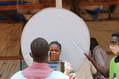 Enregistrement des électeurs à Bangui, en République centrafricaine