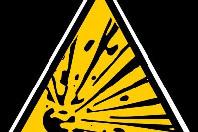 (file image) explosion explosive warning sign mining blast