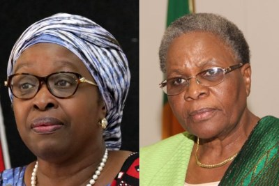 African Union Special Envoy Bineta Diop and Netumbo Nandi-Ndaitwah, Deputy Prime Minister of Namibia