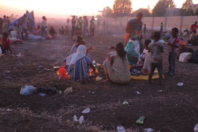 Des réfugiés éthiopiens ayant fui les violences dans la région du Tigré ont trouvé refuge au Soudan.
