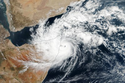 This natural-color image above shows Gati before making landfall over Ras Hafun (the easternmost point in Africa) on November 22. The image was acquired by the Visible Infrared Imaging Radiometer Suite (VIIRS) on the Suomi NPP satellite.