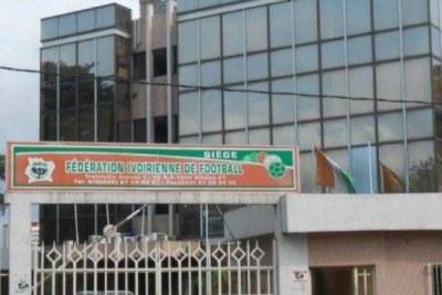 Les locaux de la fédération ivoirienne de football à Treichville (Abidjan)