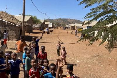 (Photo d'illustration) - Des enfants jouent dans le camp de réfugiés d'Adi Harush à Tigray en Éthiopie.