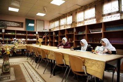 Students in a library in Libya (file photo).