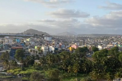 La ville de Praia, Ile de Santiago, au Cap-Vert, le 16 avril 2021.