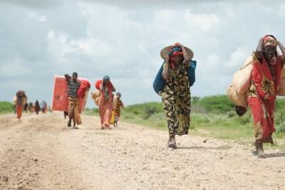 Personnes déplacées de la Somalie.