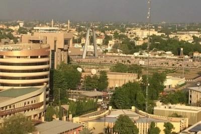 Vue aérienne de la capitale tchadienne, Ndjamena, le 9 mai 2021.