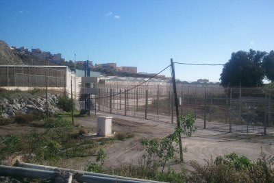 The fence on the border between the Spanish autonomous city of Ceuta and Morocco (file image).