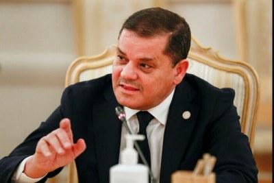 Le chef du gouvernement libyen Abdel Hamid Dbeibah