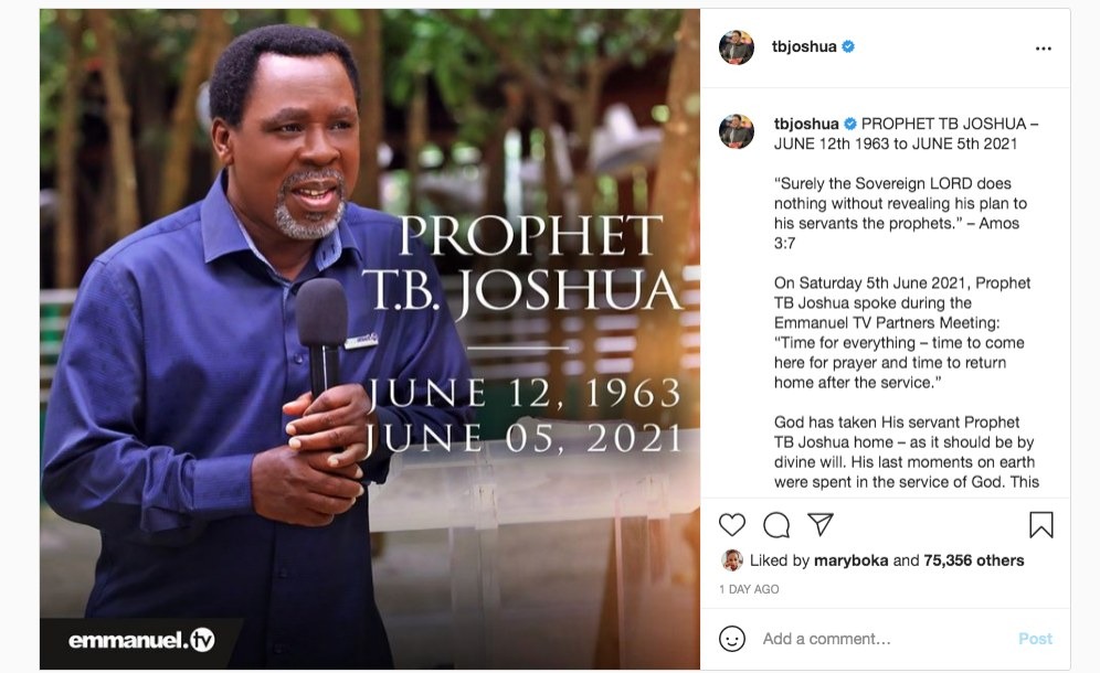 Africa: Obituary – the Controversial Life of Africa's Most Influential Preacher, TB. Joshua