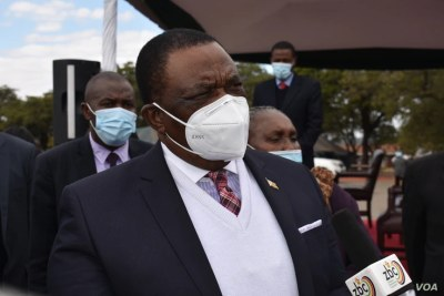 Vice President and Health Minister Constantino Chiwenga in Harare, June 24, 2021.