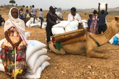 The World Food Programme (WFP) at work in the Tigray region of Ethiopia.