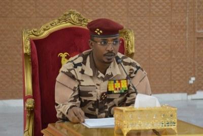 Le Président du Conseil militaire de transition, Président de la République, Chef de l'Etat, Général de Corps d'Armée du Tchad MAHAMAT IDRISS DEBY ITNO