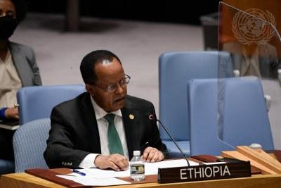 Taye Atskeselassie Amde, Représentant permanent de la République fédérale démocratique de l'Éthiopie aux Nations Unies.