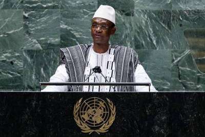 Choguel Kokalla Maïga,  Prime Minister and Head of Government of the Republic of Mali, addresses the general debate of the General Assembly's seventy-sixth session in September 2021.