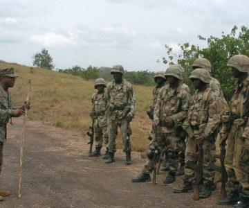 Training with Liberian Soldiers